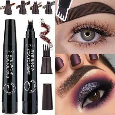 Waterproof Eyebrow Tattoo Pen Fork Tip Patented Microblading Makeup Ink Sketch