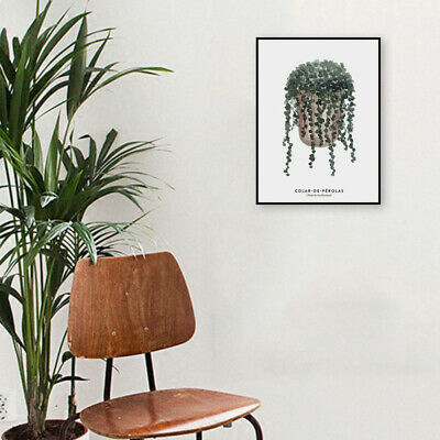 NEW Nordic Modern Green Plants Art Wall Painting Canvas Printing Picture