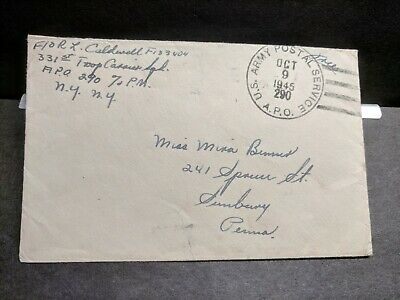 APO 290 SHANGHAI, CHINA 1945 WWII Army Cover 331st Troop Carrier Sqd