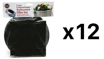 Norpro REPLACEMENT FILTER Standard Compost Pail Charcoal 2 Piece Set (12-Pack)