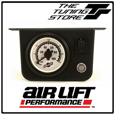 """Air Lift 26156 - Single Needle Pressure Gauge with 2"""" Lighted Panel - 100PSI"""