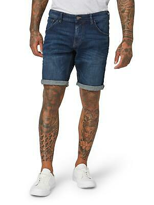 TOM TAILOR Denim Herren Baumwoll Denim Jeans Kurze Hose Shorts Blau