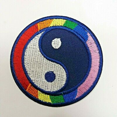 Yin Yang Embroidered  8 colors patch iron on Sew Applique ying tao hippie