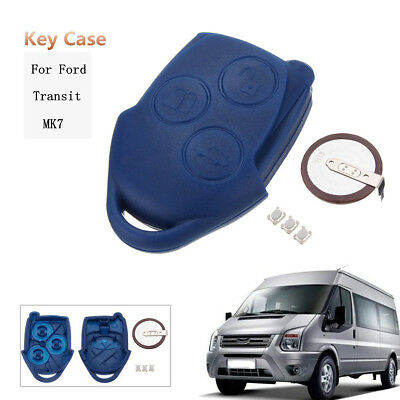 3 Button Remote Key Fob Switch Case Shell VL2330 Battery For Ford Transit MK7 -
