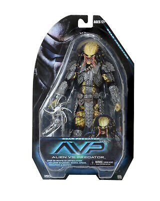 "Neca Avp Alien Vs Predator Unmasked Scar Predator 8"" Figure New Authentic Us"