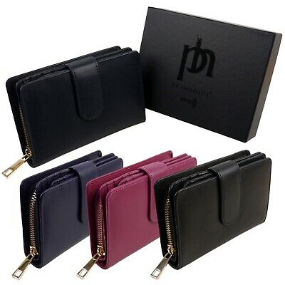 Prime Hide Ladies RFID Tabbed With Zip Purse From The Tuscan Range Gift Boxed