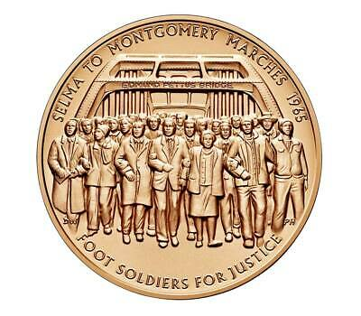 Usa Medal Bu 1965 Selma To Montgomery Voting Rights Marches Bronze Measures 1.5