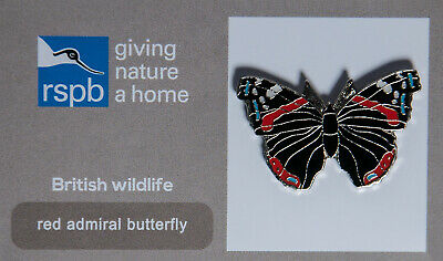 RSPB Pin Badge | red admiral butterfly GNAH (00452)