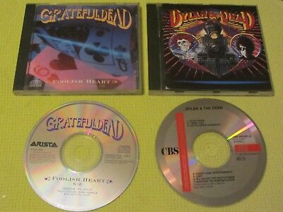 The Grateful Dead Foolish Heart Promo CD Single & Dylan & The Dead CD Album