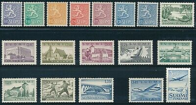 FINLAND 1963, Definitive Complete Set on Ordinary Tervakosky Paper**
