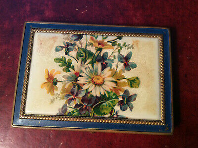COMPACT Vintage Rex Fifth Avenue Flowers Powder Mirrored Compact