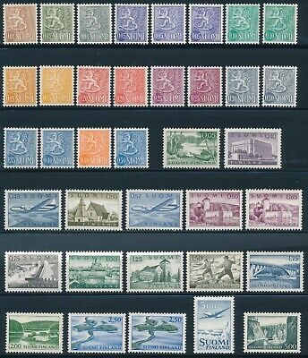 FINLAND 1963 Definitives Complete Set on Ordinary Fluorescent Paper HaP**