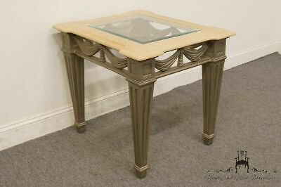 """STANLEY FURNITURE European Heritage Collection 24"""" Glass Topped End Table 664..."""