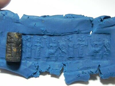 Zurqieh - As11760-  Ancient Holy Land. Stone Cylinder Seal. 800 - 500 B.c