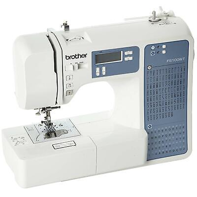 Brother FS100WT Computerised Embroidery Sewing and Quilting Machine - White