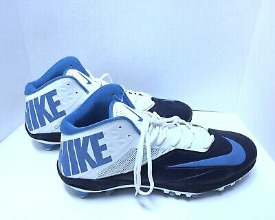 newest 129ab 57e00 Nike Zoom Arch Beam Propulsion Football Cleats Light Blue Size 17 New