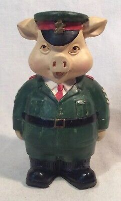 Lovely Collectable Sergeant Soldier Pig Figure Ornament By Leonardo Collection