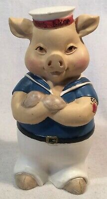 Lovely Collectable Sailor Pig Figure Ornament By Leonardo Collection