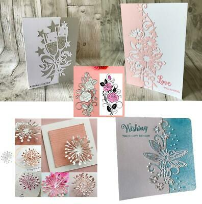 Flowers Metal Cutting Dies DIY Paper Decor Card Embossing Frames Craft Stencils