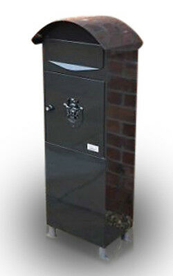 METZ Large Black Letter Box, Post Box Mail Box Letterbox large tall box