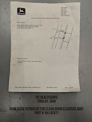 JOHN DEERE CLEAN GRAIN ELEVATOR REPAIR KIT FOR 9600's AH142471