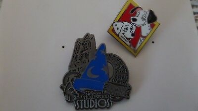 Disney Pin Binbv Lot Of 2 Disney Studios And 101 Dalmations Traders