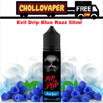 Líquido Evil Drip Blue Razz 50ml (Shortfill) E-liquid E-juice