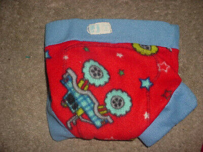Created by CECE fleece cloth diaper cover euc