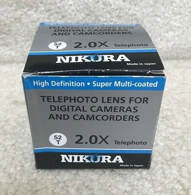 Nikura 52mm 2.0X High Definition Telephoto Lens ( NEW In Box) LNO152T REDUCED