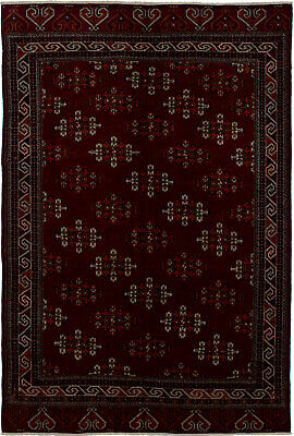 "Hand-knotted Russian Carpet 5'3"" x 7'10"" Shiravan Bokhara Traditional Wool Rug"