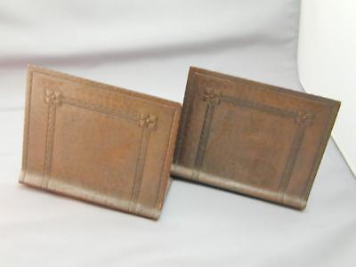 Roycroft Arts & Crafts Hammered Copper Bookends Early 1900's