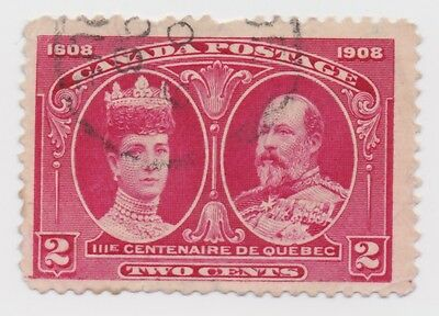 1908 Canada - 300th Anniversary Founding of Quebec - Two Cent Stamp