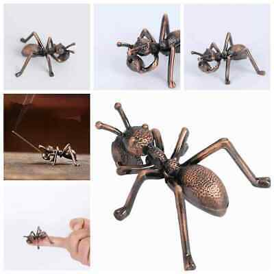 Old Chinese Bronze Copper Fengshui Wealth Animal ant Statue Hot