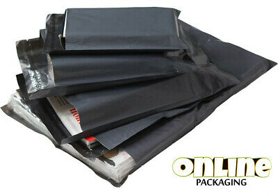 100 Pack All Sizes Grey Mailing Bags 57mu Post Mail 6x9 9x12 10x14 12x16 17x24