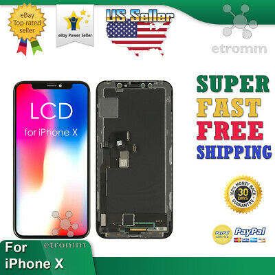 iPhone X LCD Display Touch Screen Digitizer Frame Replacement OEM A1865 A1901