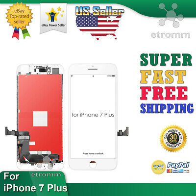 White iPhone 7 Plus LCD Display Touch Screen Digitizer Frame Replacement A1661
