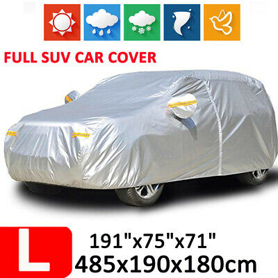 16ft Full Car Cover Waterproof Outdoor Breathable For SUV Rain Dust UV Resistant