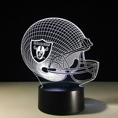 Discount OAKLAND RAIDERS LED Light Lamp Collectible NFL Antonio Brown Derek