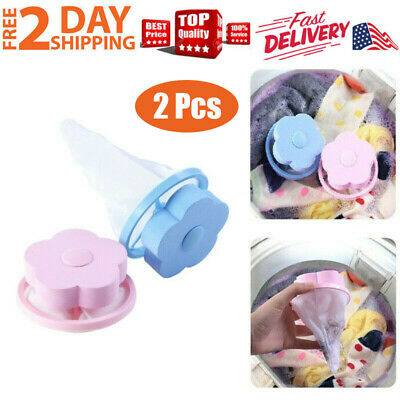 2pcs Floating Pet Fur Catcher Laundry Lint Pet Hair Remover For Washing Machine