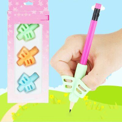 3Pcs Children Pencil Holder Pen Writing Aid Grip Posture Tools Correction TU