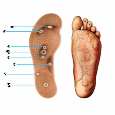 Unisex Acupressure Slimming Insoles Foot Massager Magnetic Therapy Shoe Care /om