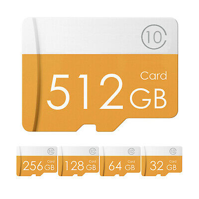 512 / 256 / 128 / 64 / 32GB Micro SD Card Fast Speed High Capacity Memory Cards