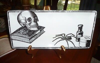 New Connections Halloween Apothecary Potion Gothic Skull Spider Serving Plate