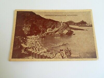 ILFRACOMBE, Rapparee Bathing Cove Vintage Postcard Franked+Stamped 1946 §E589