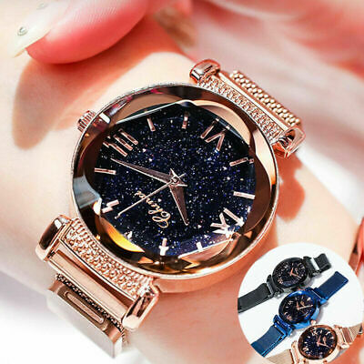 Luxury Starry Sky Watch Magnet Straps Fashion Watches Magnetic Stainless Steel