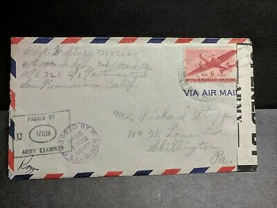 APO 321 SAIDOR, NEW GUINEA Censored WWII Army Cover 90th Attack Sqdn, 3rd Group