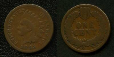 Nice 1883 Indian Head Small Cent Nicely toned VF NR