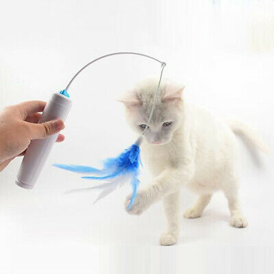 Feather Cute Pet Cat Toy Funny Interactive Electric Feather Toys Teaser Rotating
