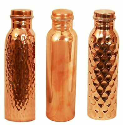 Copper Bottle Hammered Plain Diamond Water Pure Health Ayurveda Yoga Benefits