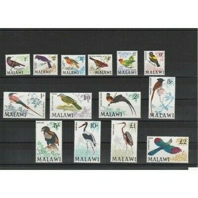Malawi 1968 Series Definitive Birds Birds 14 V MNH Yv 92-105 Mf18485